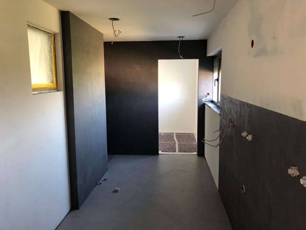 Wanbeschichtung Wand Spachteltechnik